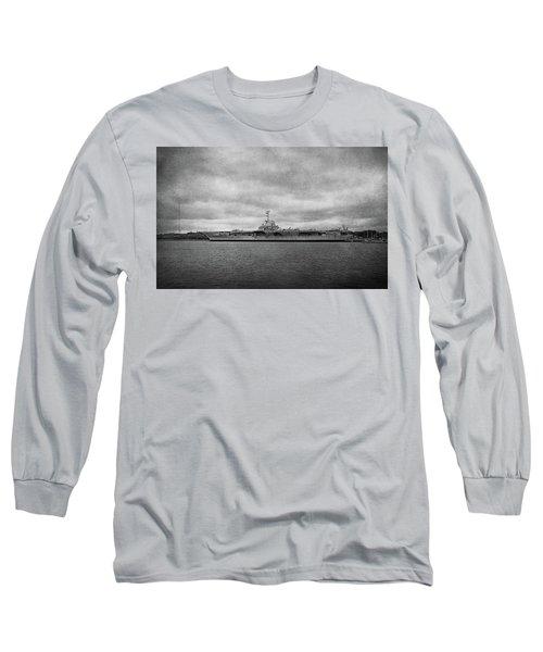 Long Sleeve T-Shirt featuring the photograph Uss Yorktown by Sandy Keeton