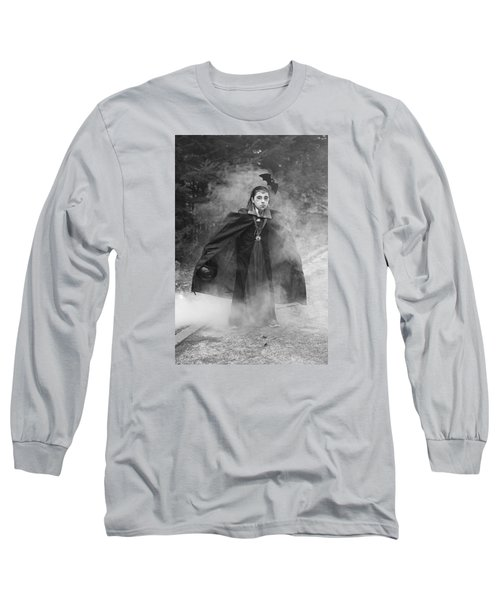 Long Sleeve T-Shirt featuring the photograph Vampire In The Fog by Barbara West