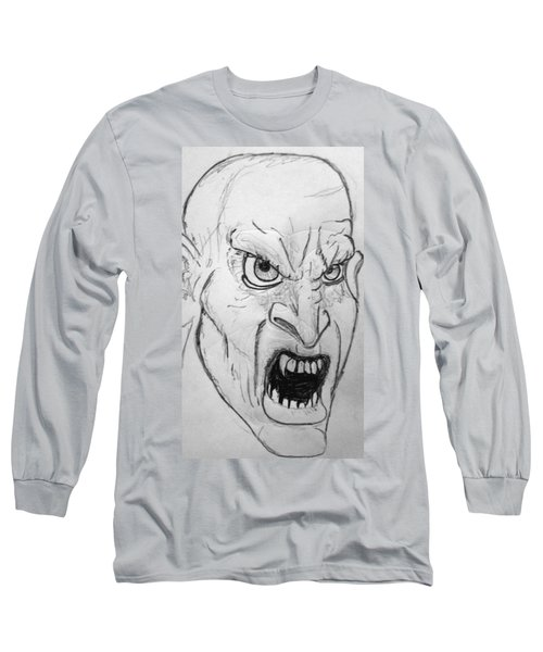 Vampire-y Ghouly Sort Of Thing Long Sleeve T-Shirt by Yshua The Painter