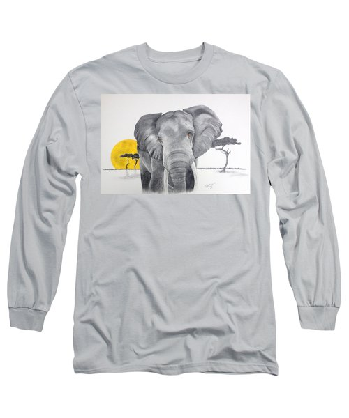 Vanishing Elephant Long Sleeve T-Shirt