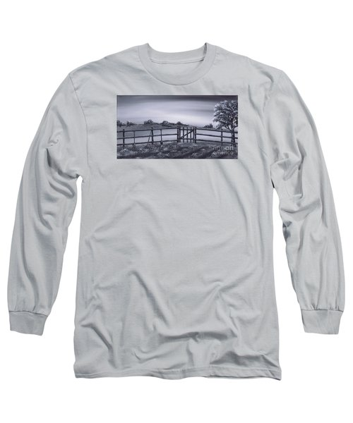 Long Sleeve T-Shirt featuring the painting Vegetable Plot by Kenneth Clarke