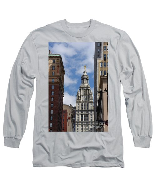 Veiw Of City Hall Long Sleeve T-Shirt by Judy Wolinsky