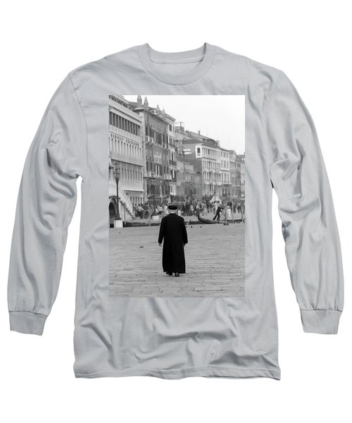 Venetian Priest And Gondola Long Sleeve T-Shirt
