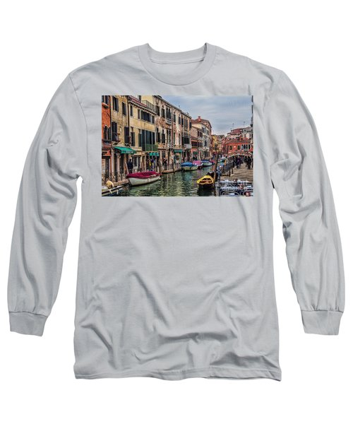 Long Sleeve T-Shirt featuring the photograph Venice Street Scenes by Shirley Mangini