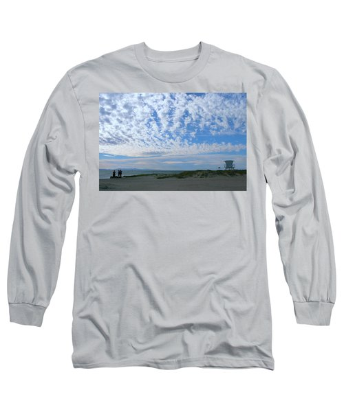 Ventura Beach With Blue Sky And  Puffy Clouds Long Sleeve T-Shirt