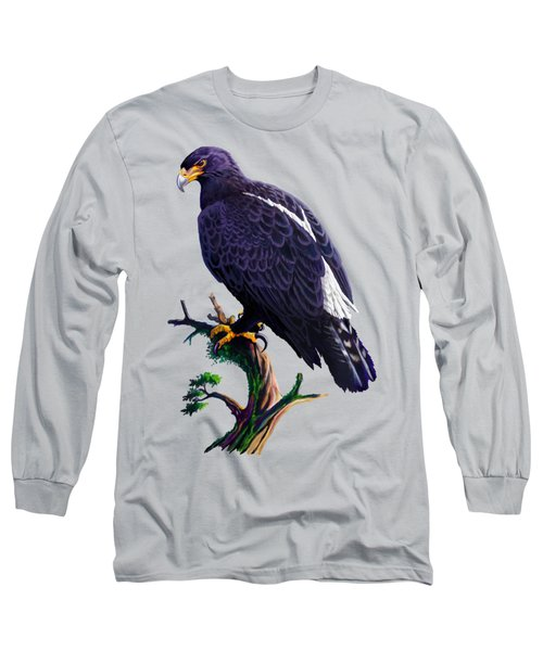 Long Sleeve T-Shirt featuring the painting Verreaux's Eagle  by Anthony Mwangi