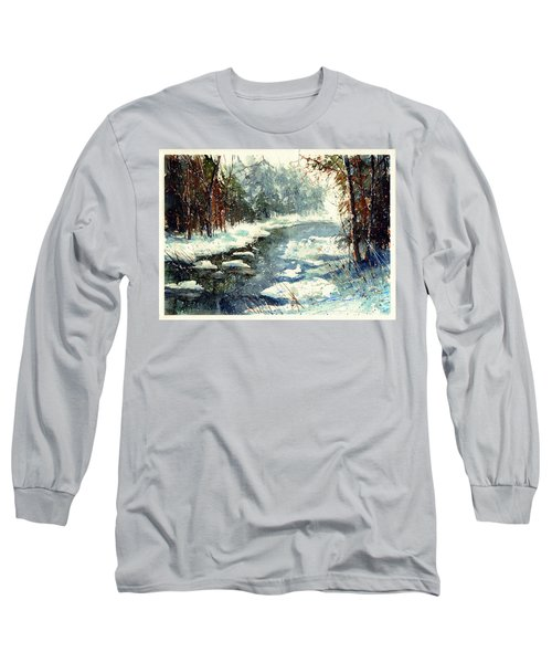 Very Cold Winter Watercolor Long Sleeve T-Shirt