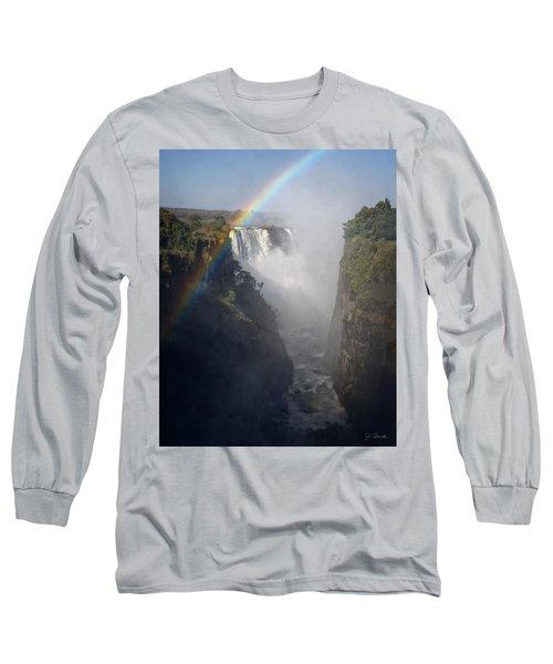 Victoria Falls No. 3 Long Sleeve T-Shirt by Joe Bonita