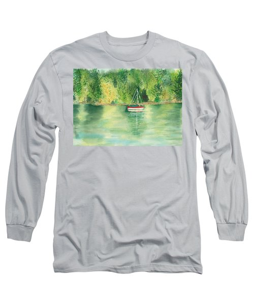 Long Sleeve T-Shirt featuring the painting View From Millbay Ferry by Vicki  Housel