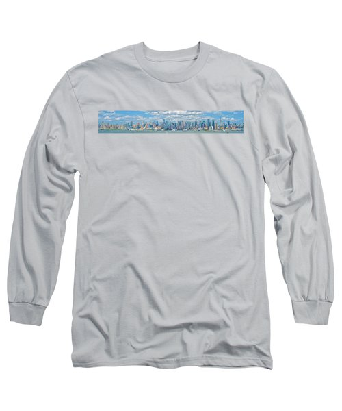 Long Sleeve T-Shirt featuring the photograph View From New Jersey 2 by Theodore Jones
