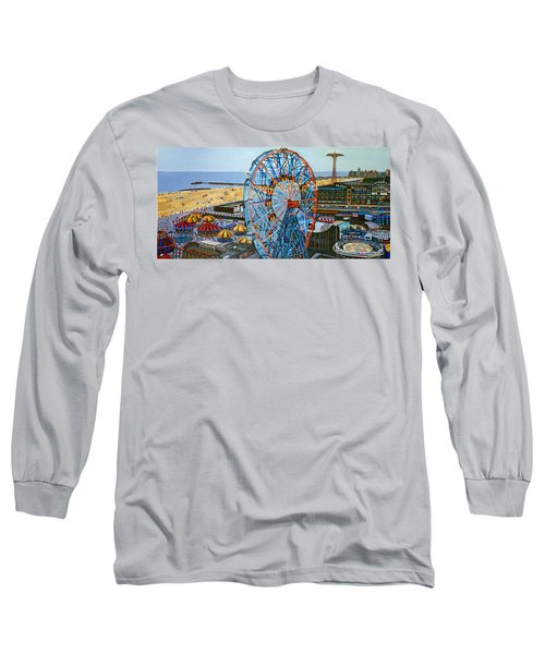 View From The Top Of The Cyclone Rollercoaster Long Sleeve T-Shirt