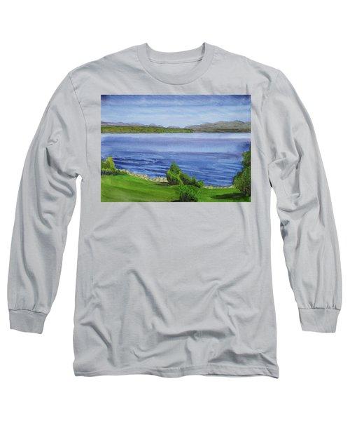 View Of The Adirondacks Over Great Sacandaga Lake Long Sleeve T-Shirt