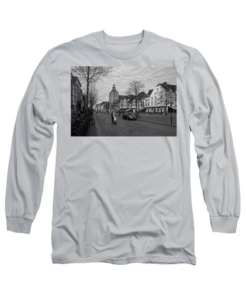 View To The Bosch Street In Maastricht Long Sleeve T-Shirt by Nop Briex