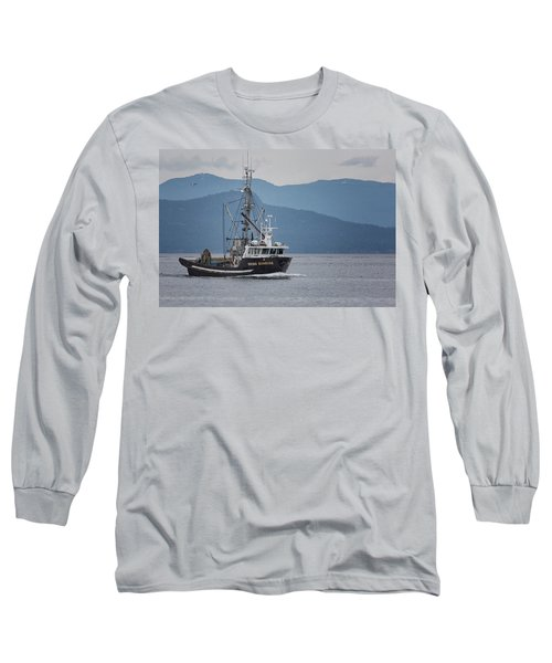 Viking Sunrise At Nw Bay Long Sleeve T-Shirt