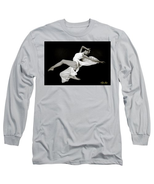 Long Sleeve T-Shirt featuring the photograph Viktory On Black by Rikk Flohr