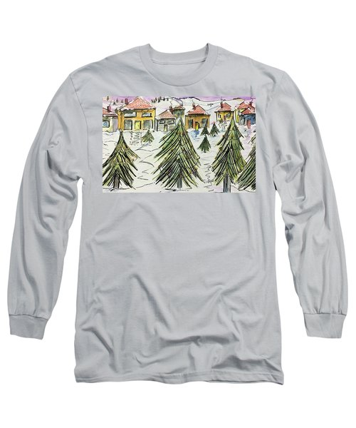 Village Winter Wonderland Long Sleeve T-Shirt