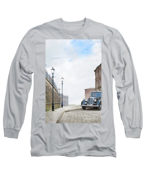 Vintage Car Parked On The Street Long Sleeve T-Shirt by Lee Avison