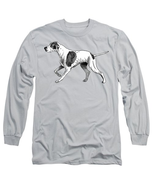 Long Sleeve T-Shirt featuring the painting Vintage German Shorthaired Pointer by Marian Cates