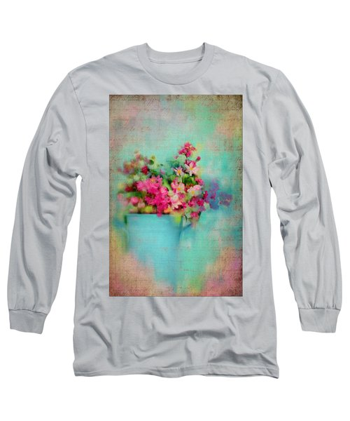 Flowers From A Cottage Garden Long Sleeve T-Shirt