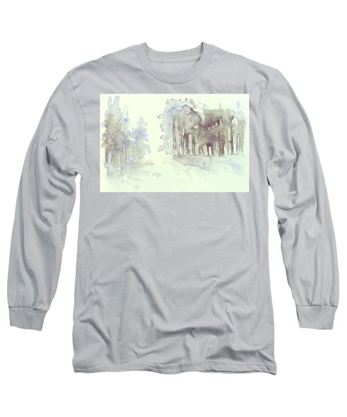 Vintrig Skogsglanta, A Wintry Glade In The Woods 2,83 Mb_0047 Up To 60 X 40 Cm Long Sleeve T-Shirt