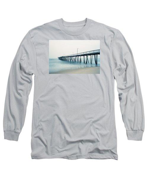 Virginia Beach Fishing Pier Long Sleeve T-Shirt by Scott Meyer