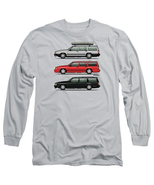 Volvo 740 745 Turbo Wagon Trio Long Sleeve T-Shirt