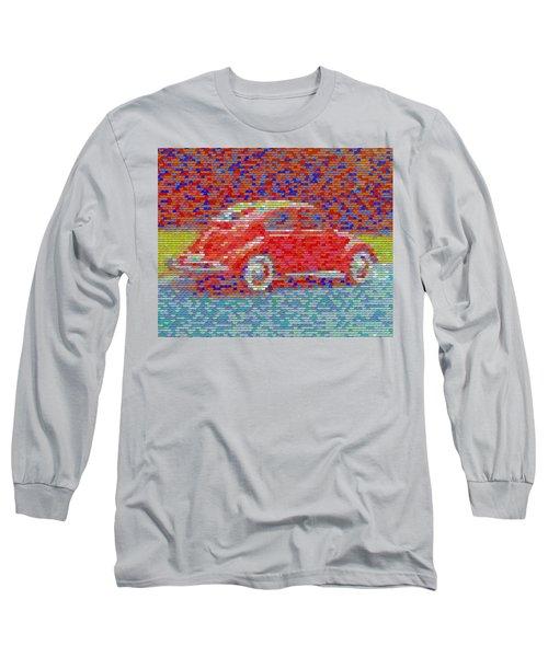Long Sleeve T-Shirt featuring the digital art Vw Bug Pez Mosaic by Paul Van Scott