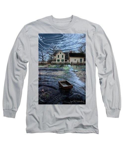 Wagon Long Sleeve T-Shirt by Joan Ladendorf