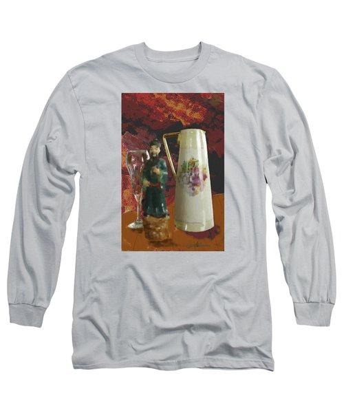 Long Sleeve T-Shirt featuring the digital art Waiting by Dale Stillman