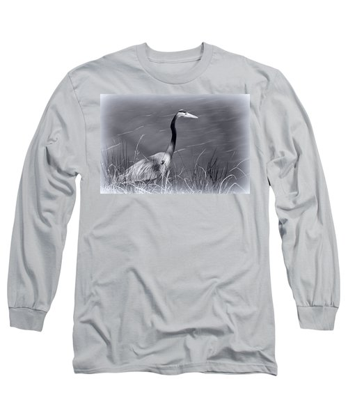 Waiting For Lunch Long Sleeve T-Shirt by Ludwig Keck