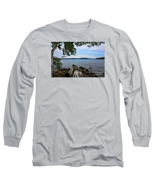 Waiting For Me Long Sleeve T-Shirt by Mim White
