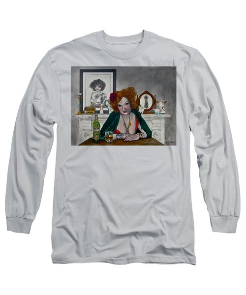 Waiting For Mr. Goodbar Long Sleeve T-Shirt by TP Dunn