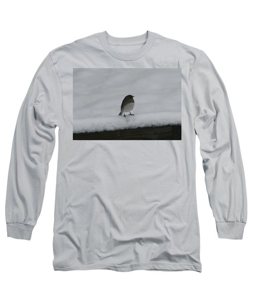 Long Sleeve T-Shirt featuring the digital art Waiting For Spring by Barbara S Nickerson