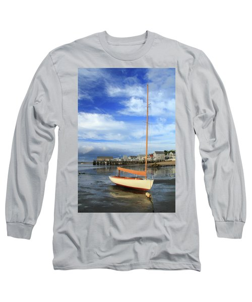 Long Sleeve T-Shirt featuring the photograph Waiting For The Tide by Roupen  Baker