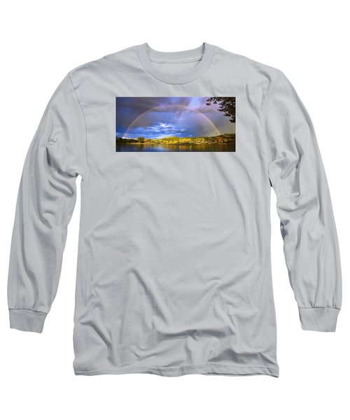Wake Up Rainbow  Long Sleeve T-Shirt by Kadek Susanto