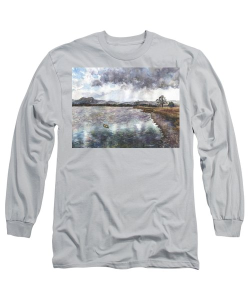 Walden Ponds On An April Evening Long Sleeve T-Shirt by Anne Gifford