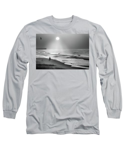 Long Sleeve T-Shirt featuring the photograph Walk Beneath The Moon by Karen Wiles