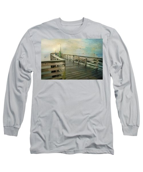 Walk On By Long Sleeve T-Shirt by Diana Angstadt