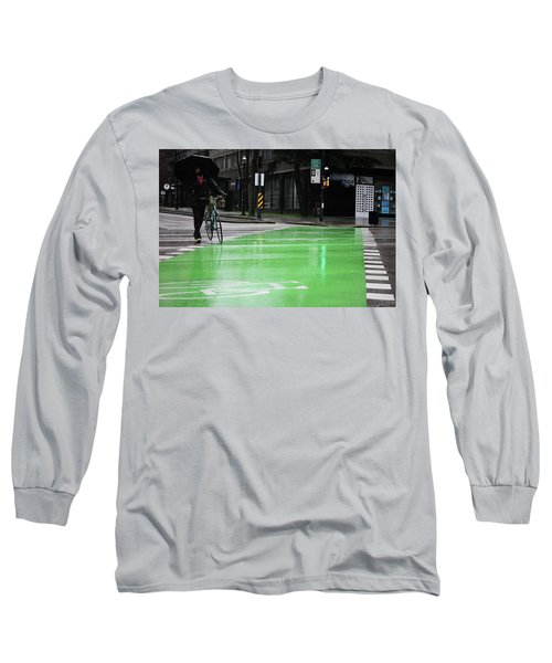 Walk With Wheels  Long Sleeve T-Shirt by Empty Wall