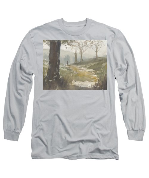 Walking At Green Island Long Sleeve T-Shirt