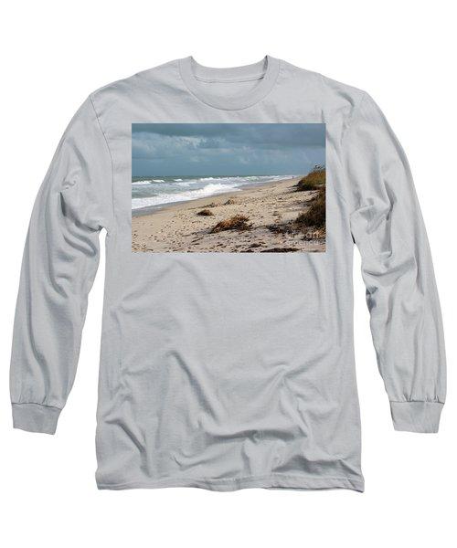 Walks On The Beach Long Sleeve T-Shirt by Megan Dirsa-DuBois