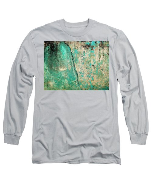Wall Abstract 97 Long Sleeve T-Shirt by Maria Huntley