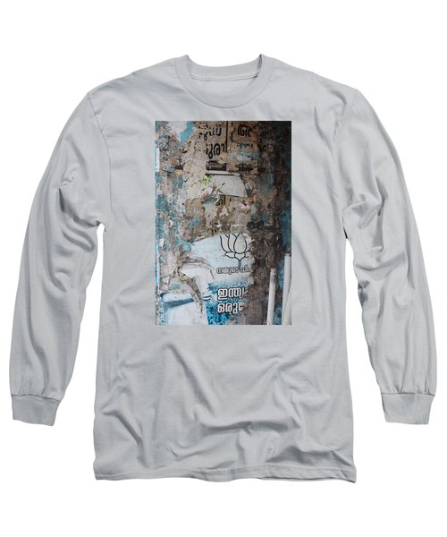 Wall In Kochi Long Sleeve T-Shirt by Jennifer Mazzucco