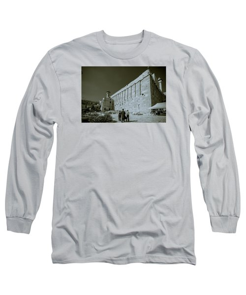 Walls Of Cave Of The Patriarchs Long Sleeve T-Shirt