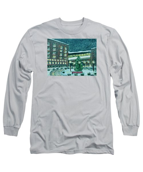 Waltham Hospital On Hope Ave Long Sleeve T-Shirt by Rita Brown