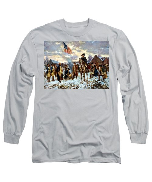 Washington At Valley Forge Long Sleeve T-Shirt