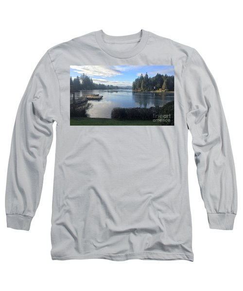 Long Sleeve T-Shirt featuring the photograph Watching The Ice Melt by Victor K