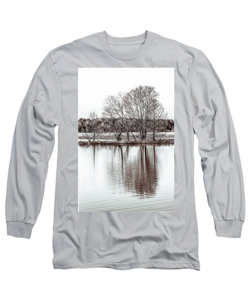 Long Sleeve T-Shirt featuring the photograph Water And Trees by Wade Brooks