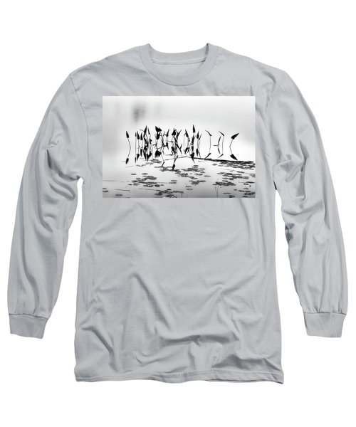 Water Lilies Long Sleeve T-Shirt by Catherine Alfidi