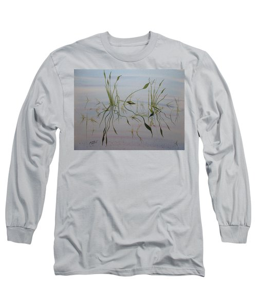 Long Sleeve T-Shirt featuring the painting Water Music by Joel Deutsch